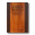 Bíblia ACF crm Grande - Capa Luxo Chocolate/Havana