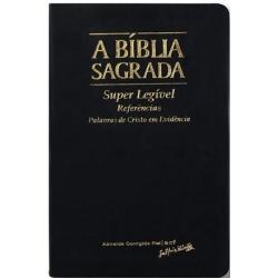 Bíblia ACF Hiper Legível Luxo/indice- Capa Luxo Preta