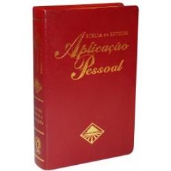 Bíblia de Estudo Aplicação Pessoal Grande -  Luxo - Vinho