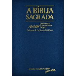 Bíblia ACF rcm Grande - Capa Luxo Azul