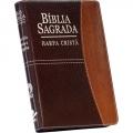 Bíblia C/Harpa LG Ziper Covertex Bicolor Marrom