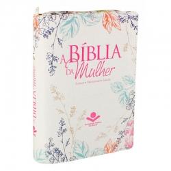 Bíblia da Mulher c/Ziper - Flores