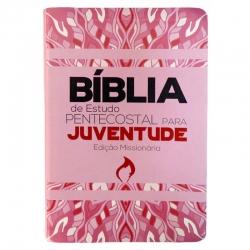 Bíblia de Estudo Pentecostal Para Juventude - Rosa