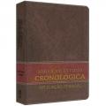Bíblia de Estudo Cronológica Aplicação Pessoal - Tarja Marrom