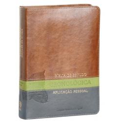 Bíblia de Estudo Cronológica Aplicação Pessoal - Tarja Verde