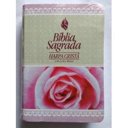 Bíblia Sagrada Harpa Cristã Feminina Pequena - Rosas