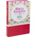 Bíblia Com Harpa LGd. Flores/Vermelho