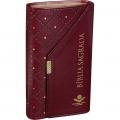 Bíblia com Carteira Harpa Cristã - Marrom