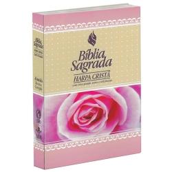 Bíblia Sagrada Harpa Cristã Feminina Rosas