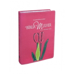 Bíblia Da Mulher (Grande) - Flor