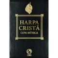 Harpa Cristã Com Música Grande Luxo - preto