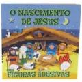 O Nascimento de Jesus com Figuras Adesivas